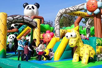 台南旅遊-氣墊樂園